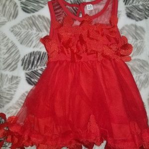 Red Formal Dress; Size 6-9 Months